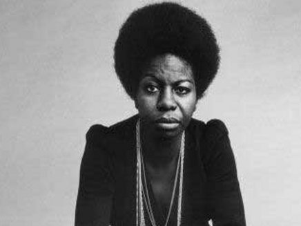 Nina Simone and her perfectly shaped afro.