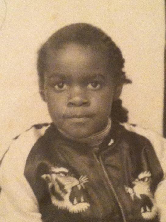My mom as a kid rocking those plaits.