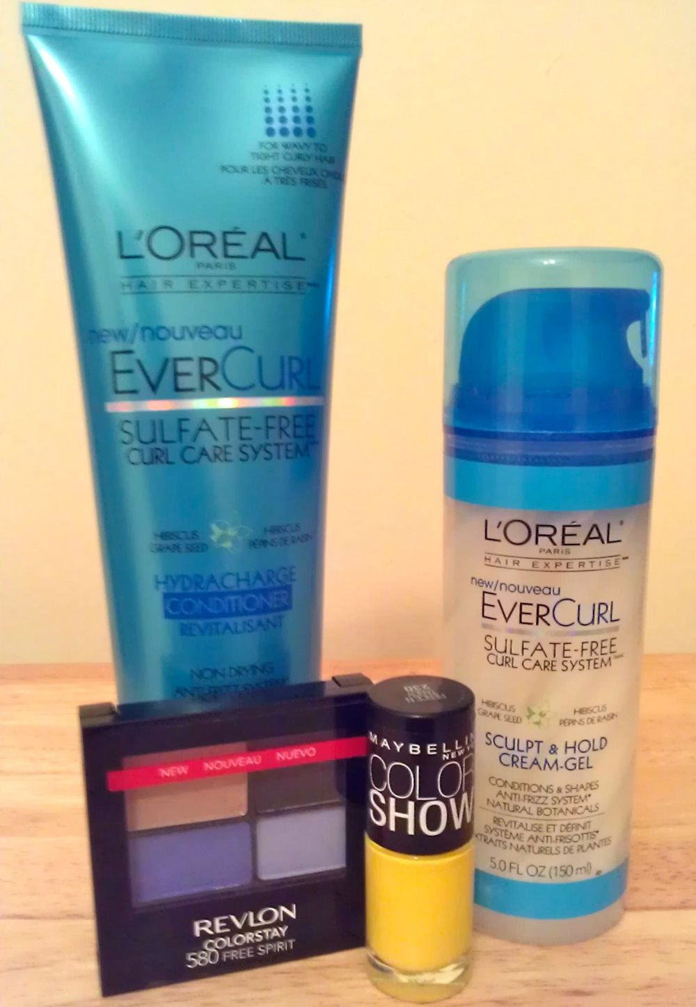 I also splurged on some new eyeshadow and nail polish when I picked up my L'Oreal products from Wal-Mart.