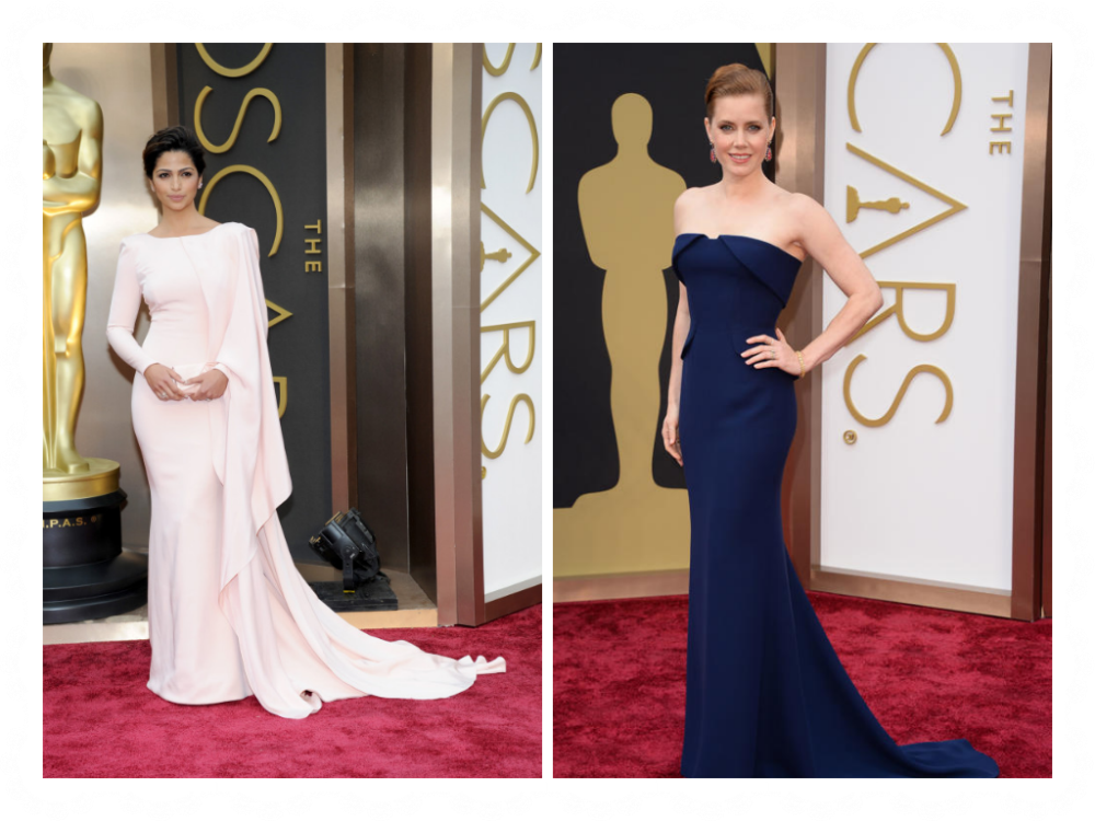 dresses collage 2014 Oscars