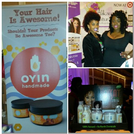 The lovely ladies in this photo are from Alikay Naturals. They were so nice! I purchased the Creme Brulee Curling Custard. Can't wait to try it.