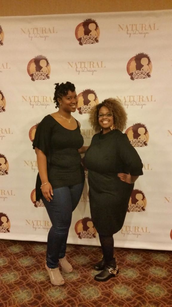 Earashea and I. This lady is the CEO and creator of No'Kyem Naturals. She was sooo nice.