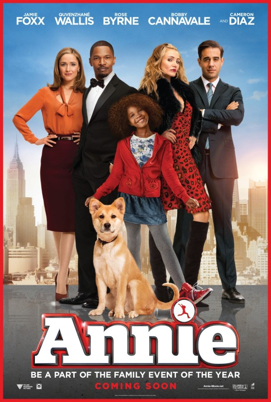 Annie hit theaters today!