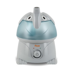 My humidifier of choice. I'm pretty sure it was created for a child's room, but I thought it was cute and it does the job.