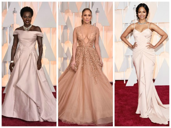 Blush was a trend on the Oscars red carpet and is sure to be a trend that we will see in spring fashion.
