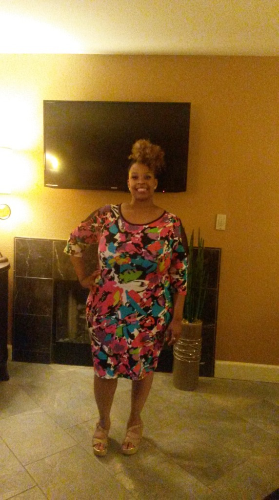 This is a horrible picture, but this was the dress I wore to my friend's birthday dinner and then out for some dancing at One Oak, which is located in The Mirage.