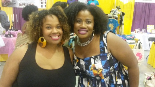 Tribe Called Curl founder Imani Dawson and I at Return of the Curls. She was super sweet and has a team that respects her and her vision.
