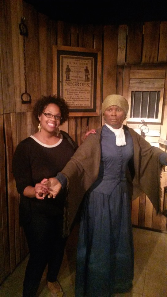 I also visited Madam Tussauds over the weekend. Here my curls meet Harriet Tubman.